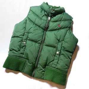 Old Navy Girls Green Vest Puffer Size M